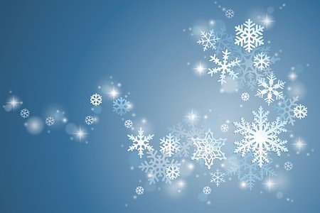 Winter snowflake swirl Clipart Image.