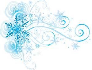 Snowflake Swirl Clip Art.