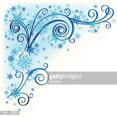Snowflake Swirl Clipart.
