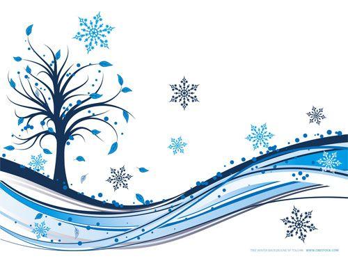 Winter Swirl Clip Art.