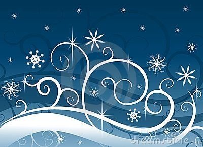 Blue Winter Wonderland Royalty Free Stock Photos.