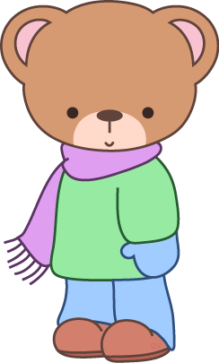 WINTER TEDDY BEAR CLIP ART.