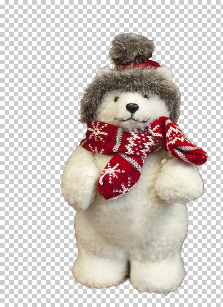 Polar bear Toy Teddy bear Animal, Bear winter PNG clipart.