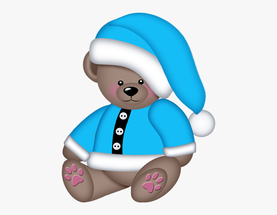 Winter Teddy Bear Cute Clipart, Cute Panda, Kids Scrapbook.