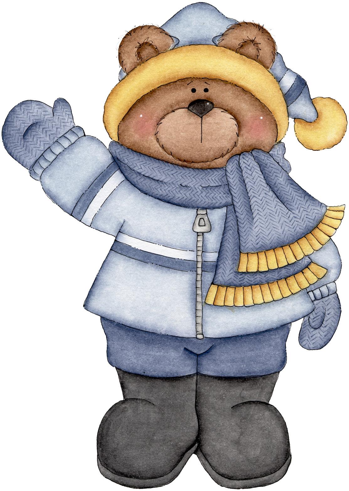January teddy bear clipart.