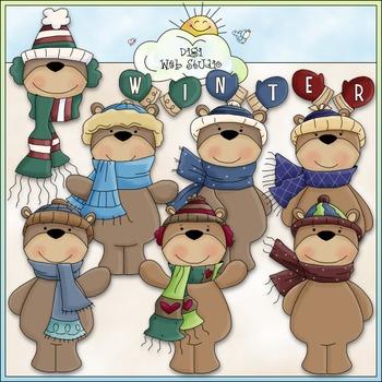 Winter Bears Clip Art.