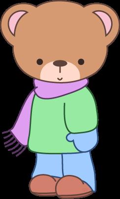 WINTER TEDDY BEAR CLIP ART.