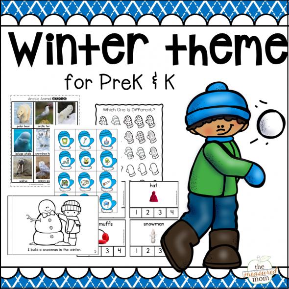 New! Winter Theme Pack for Preschool & Kindergarten!.