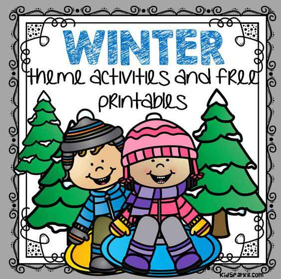 Winter theme activities and printables for Preschool and.