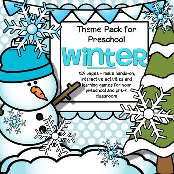 WINTER Theme Pack for Preschool.
