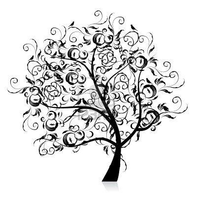 pine tree silhouette clip art..