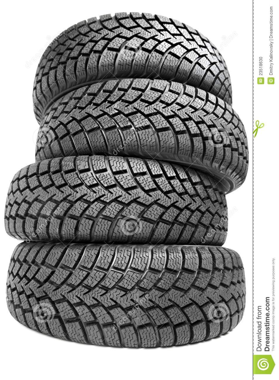 Stack of tires clipart.