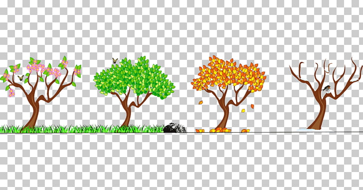 The Seasons of Life Autumn Winter Spring, mountain fog PNG.