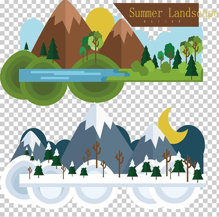 Winter Summer Illustration PNG, Clipart, Border, Cartoon.