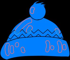 Winter Hat Blue Clip Art at Clker.com.