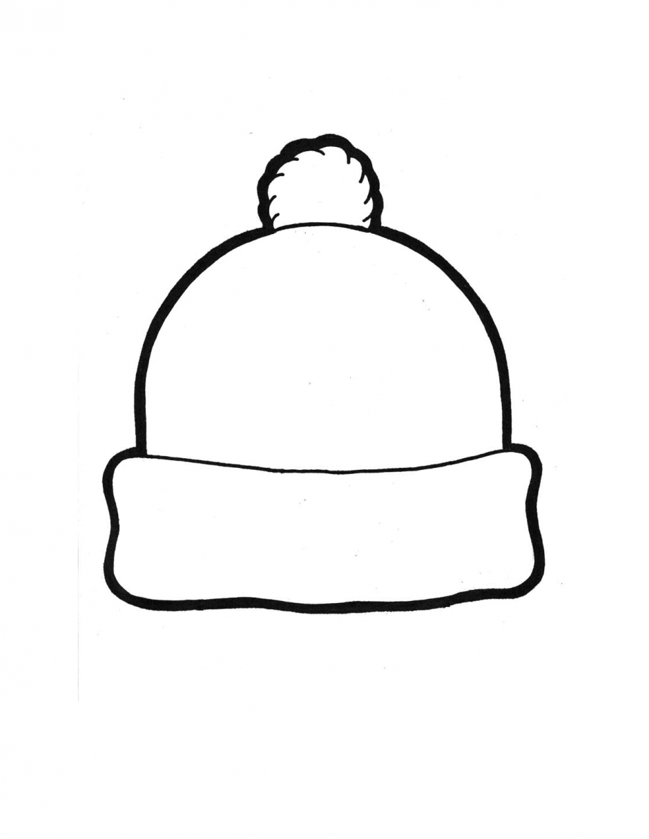 Winter Hat Template Coloring Page January Striking.
