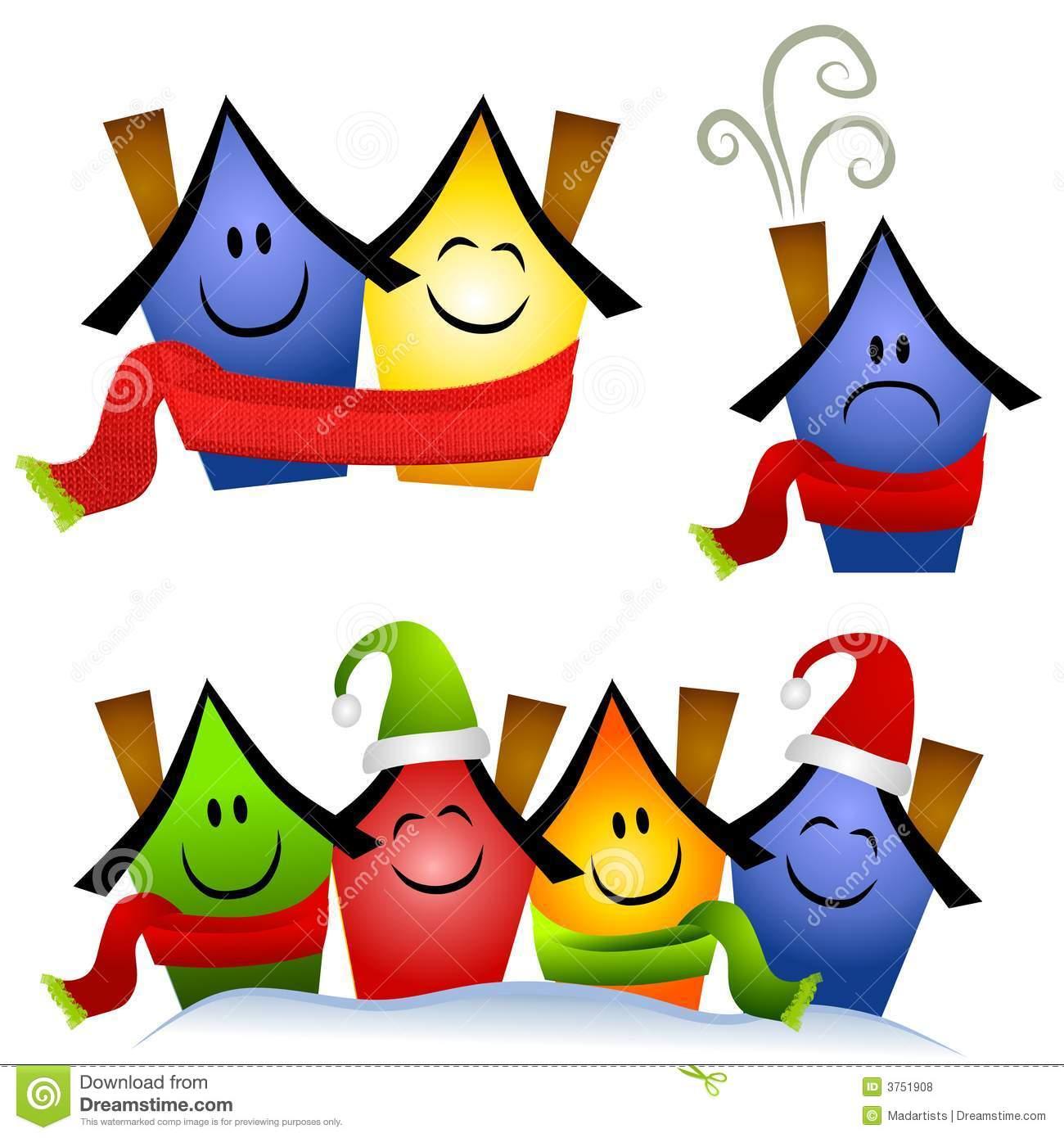 Winter Home Heating Clip Art Royalty Free Stock Photos.