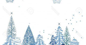 Winter Clipart Border.