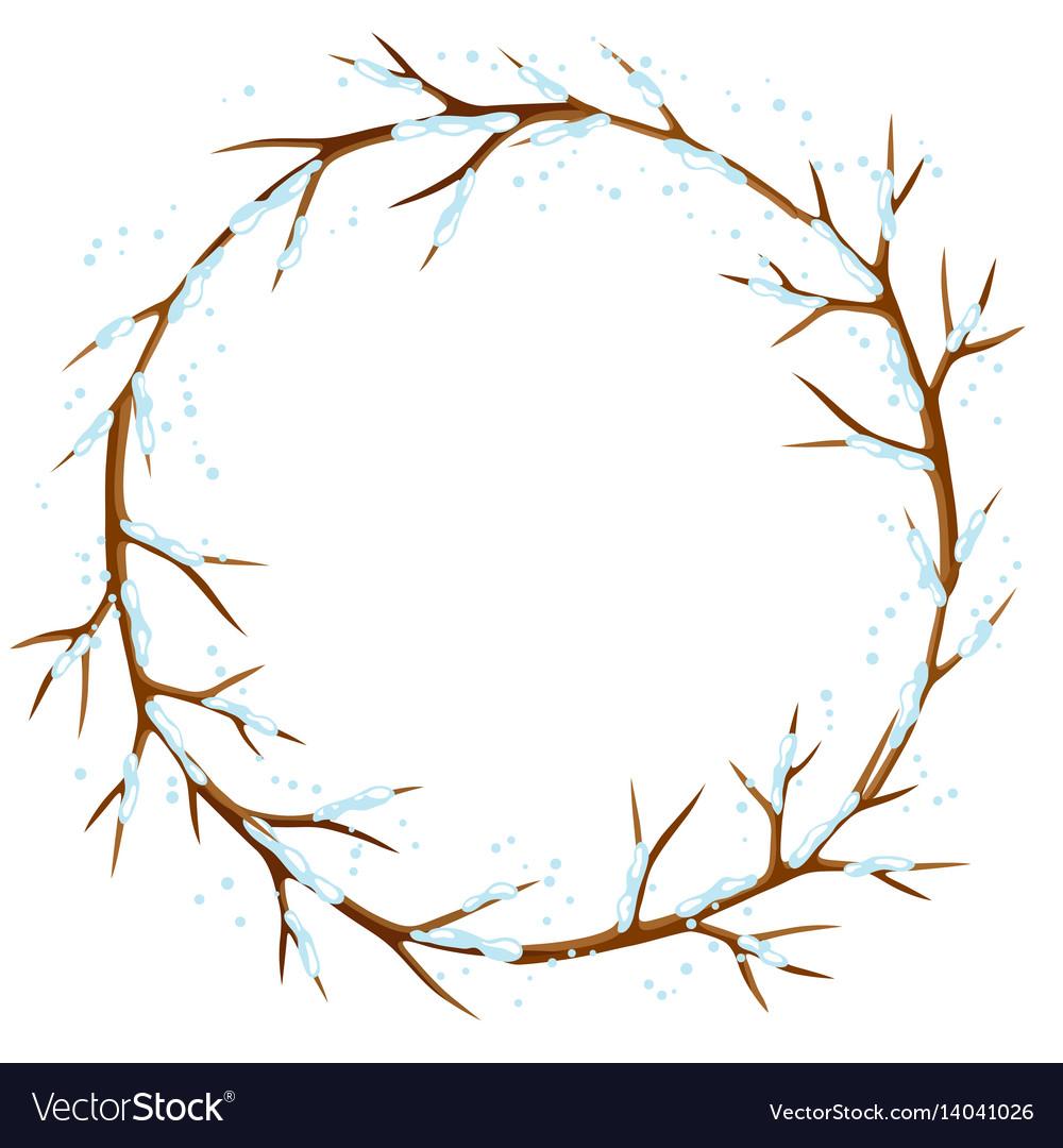 Winter Tree Branch Clip Art.