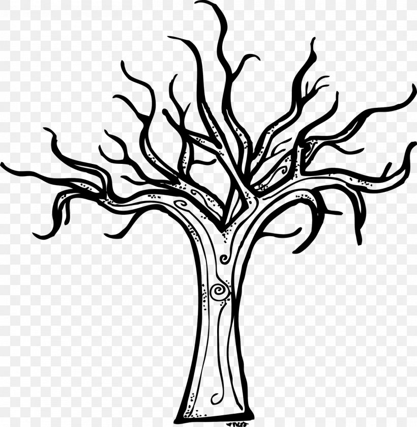 Tree Winter Diagram Clip Art, PNG, 1563x1600px, Tree, Black.