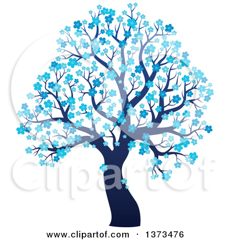 winter tree clipart blue #18
