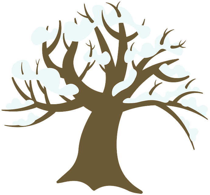 Winter tree clipart. Free download..