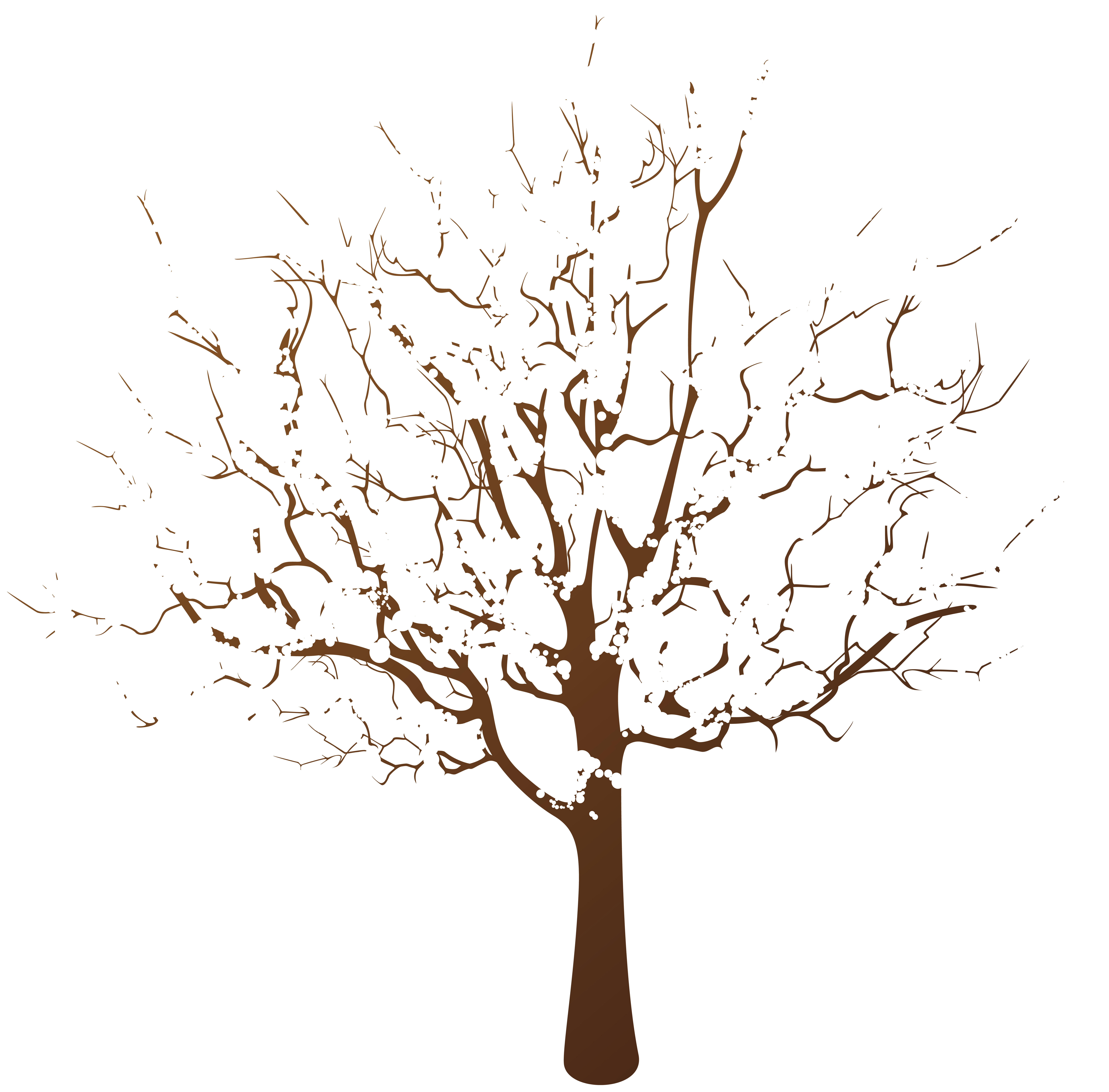 Winter Tree Transparent Clip Art.