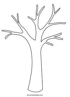 winter tree template.