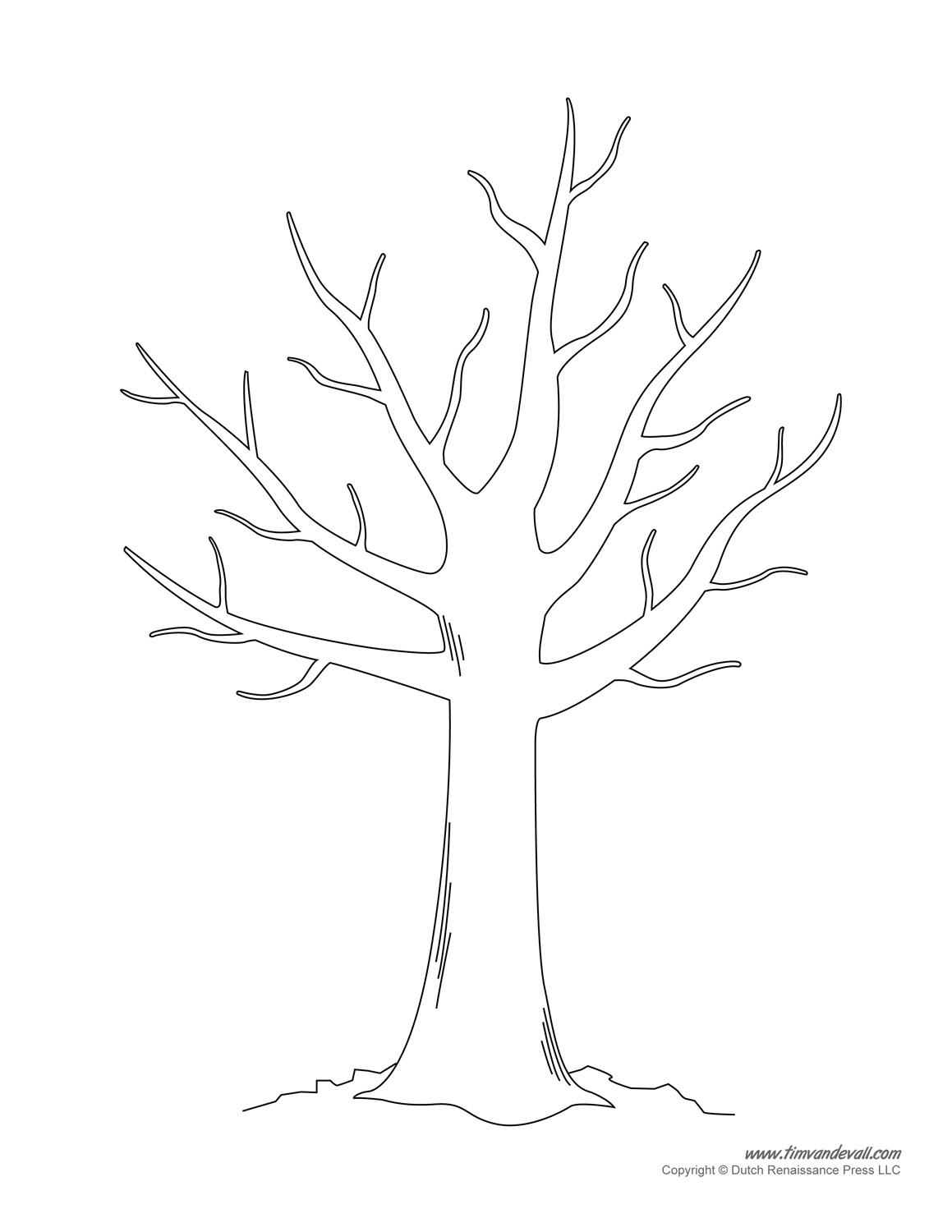 tree template printable.
