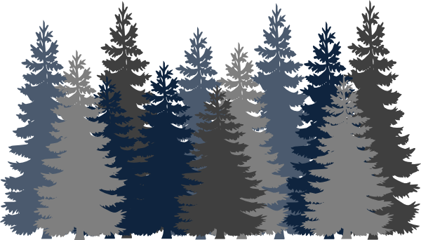 Navy Blue Tree Forest PNG, SVG Clip art for Web.