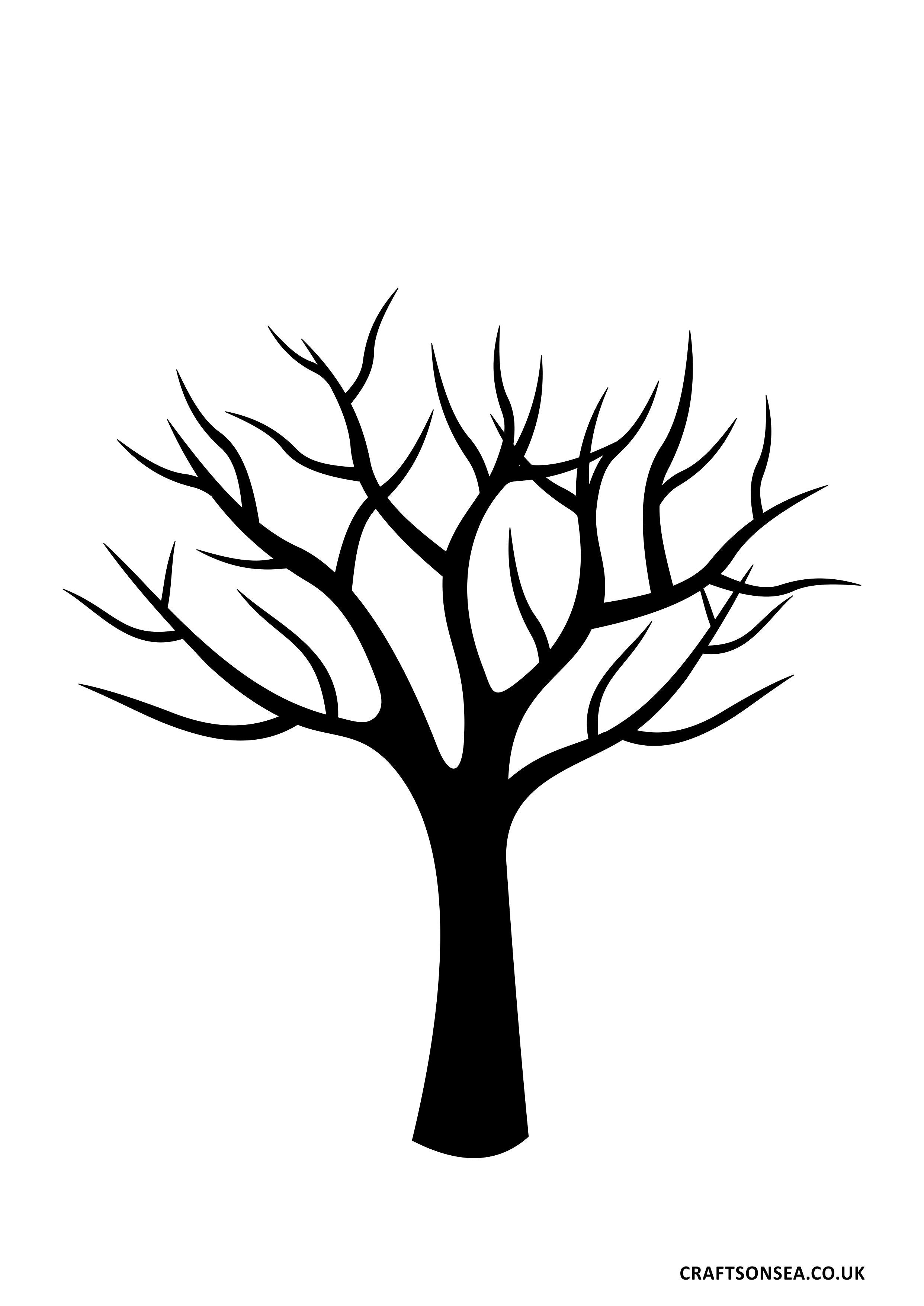 winter tree templates.