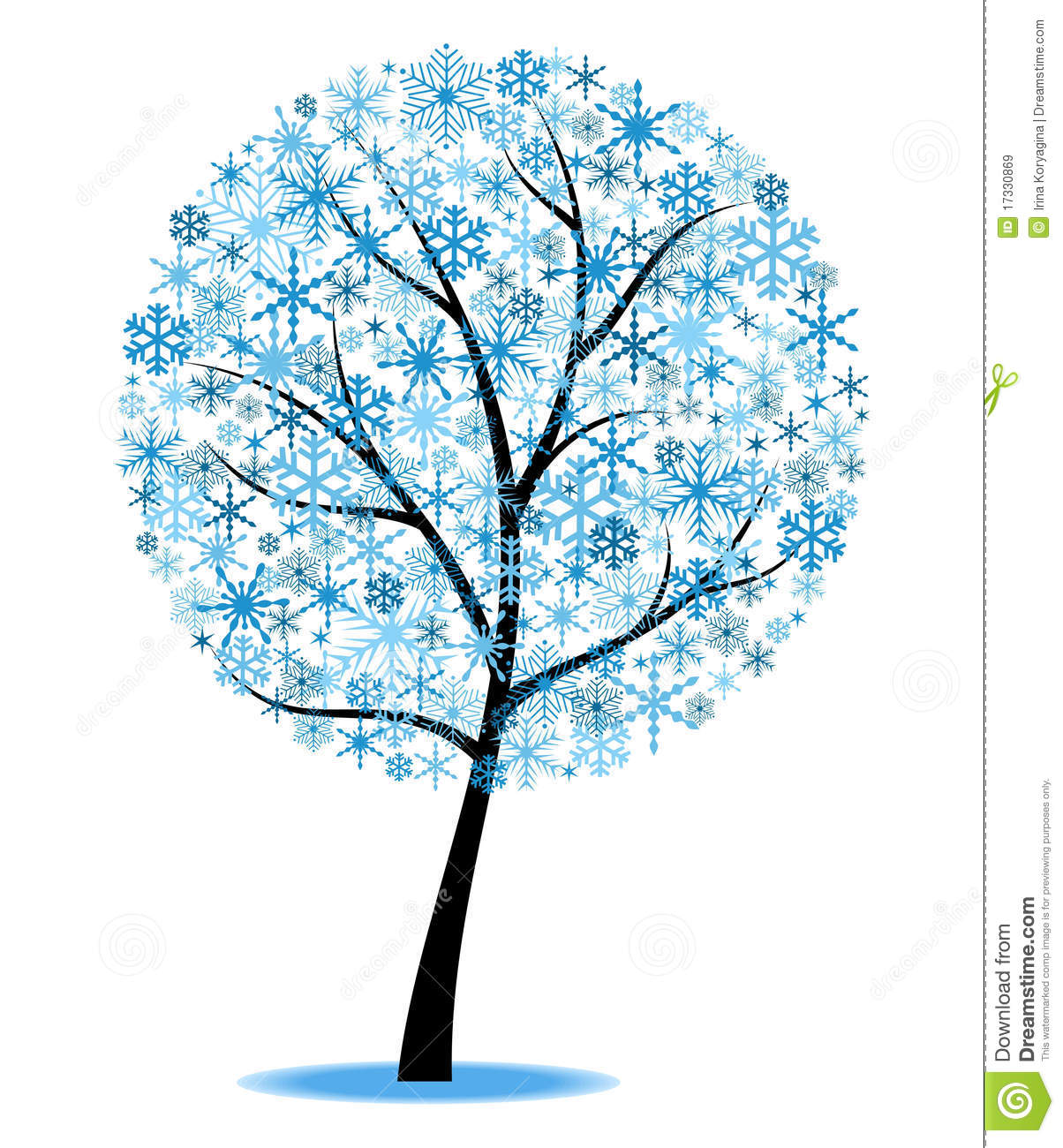 Winter tree clip art free.