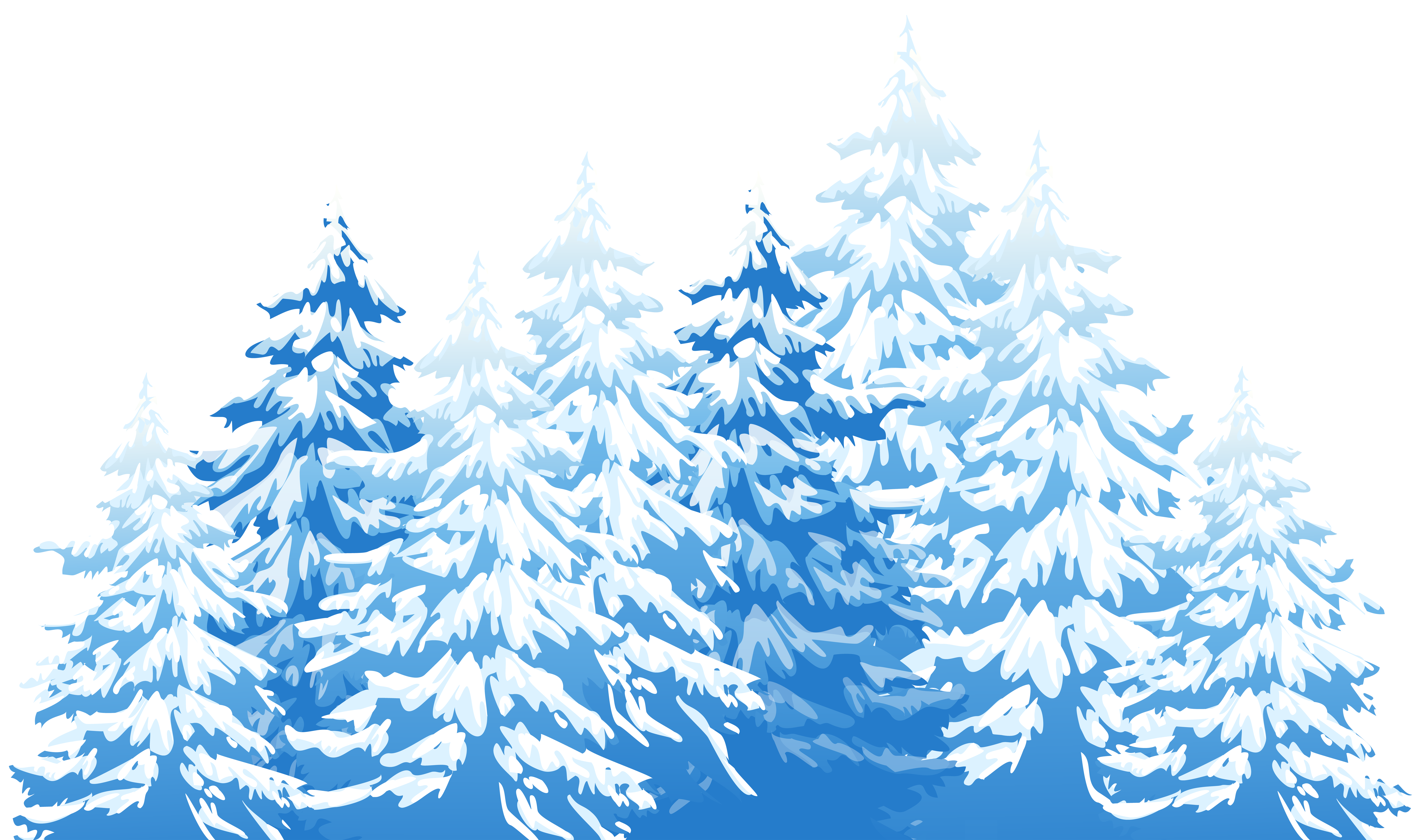 Winter Trees PNG Clip Art Image.