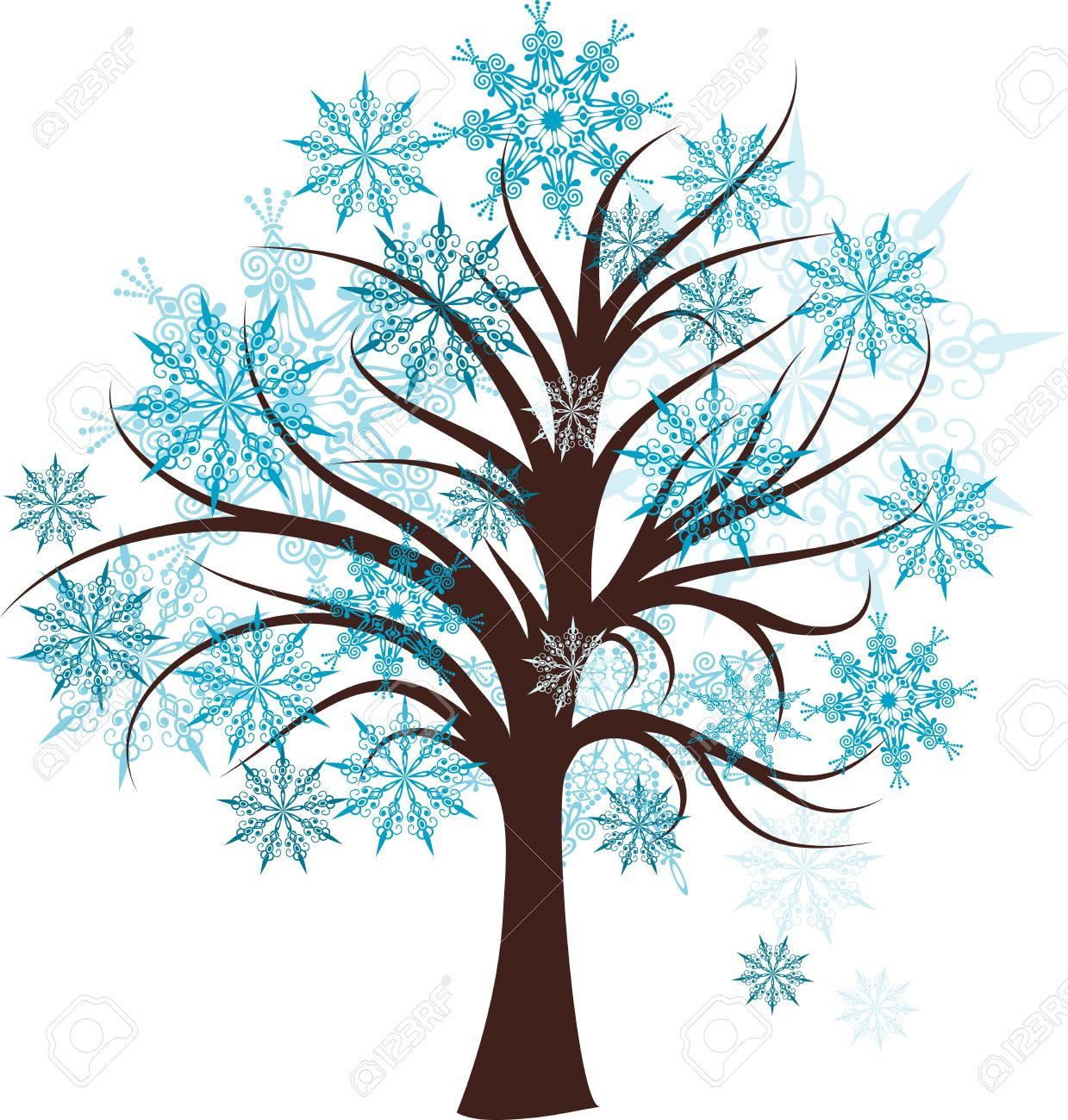541 Winter Tree free clipart.