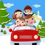 winter vacation clipart family traveling on winter vacation stock.