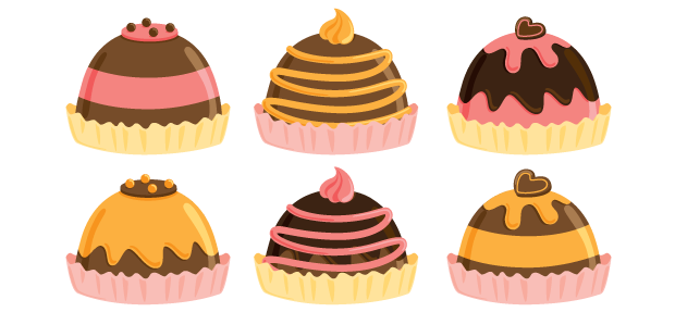Truffle Chocolate Candy Clip Art.