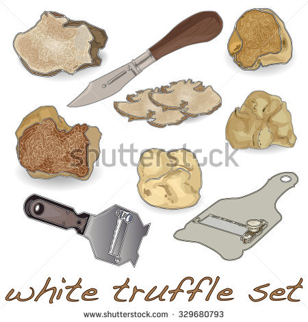 White Truffle Stock Photos, Royalty.