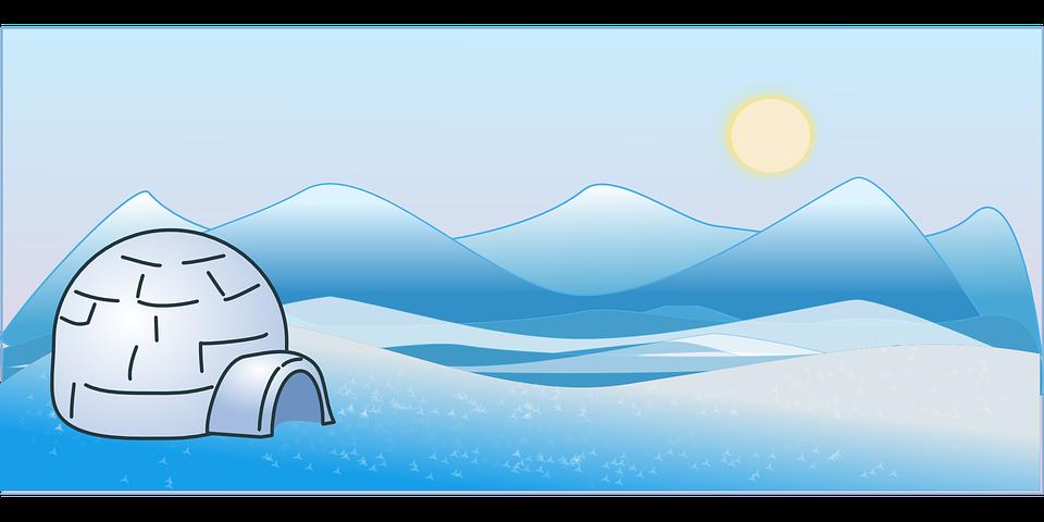 Arctic Landscape Clipart.