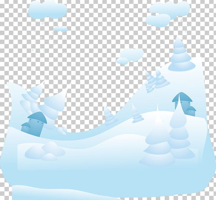Snowy Winter Landscape Background PNG, Clipart, Aqua, Azure.