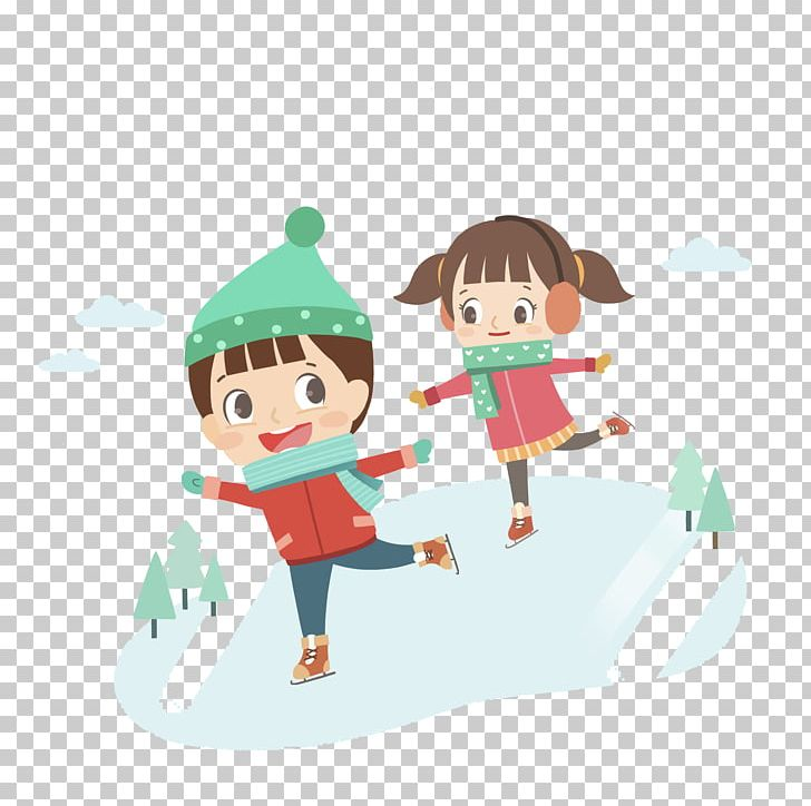Child Winter Vacation Cartoon Runner PNG, Clipart, Android.
