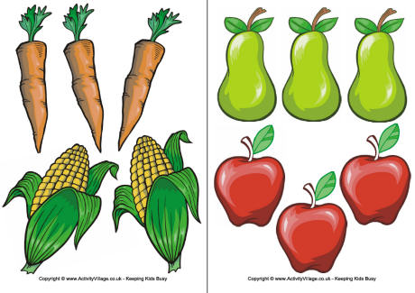 Free clipart fruits and vegetables.