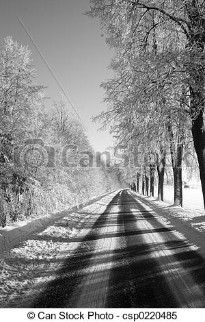 Stock Images of winter way csp0220485.