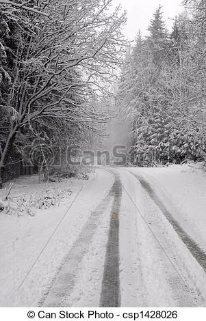 Stock Image of Winter way csp1428026.