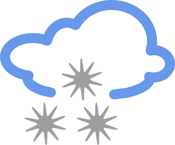 Weather forecasting Rain and snow mixed Clip art.