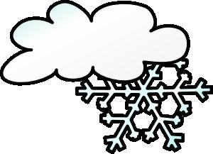 Winter Cloud Snow Flake Clip Art at Clker.com.