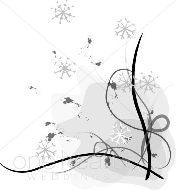 Winter Wedding Clipart.