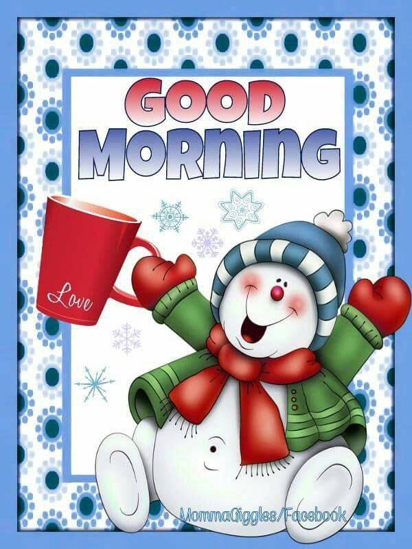 Winter Good Morning Snowman Quote Pictures, Photos, and.