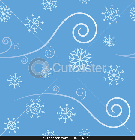 Seamless Wind and Snow stock vector.