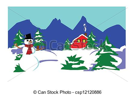 Winter wonderland Vector Clipart Illustrations. 1,525 Winter.