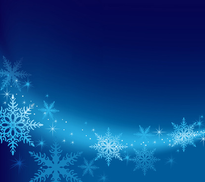 Blue snowflake winter wonderland background free vector.